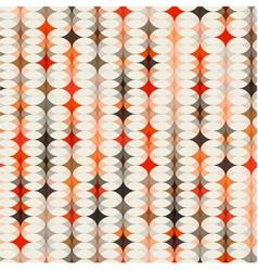 seamless geometric orange background vector image vector image