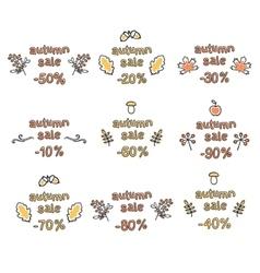 Set of uatumn sale vector image