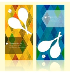 Sport brochure beauty template cards Tennis vector image