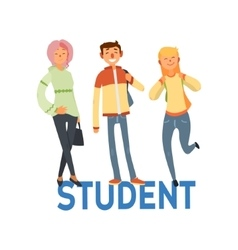 Student people set 1 vector