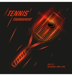 Tennis poster design vector image vector image