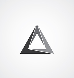 triangle logotype theme vector image vector image