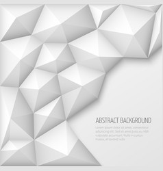 White 3d geometric abstract background with vector image