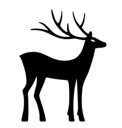 Marvelous deer stands vector