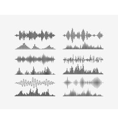 Radio frequency digital waves forms vector