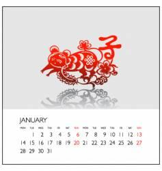 2008 calendar january vector