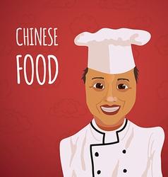 Cartoon character asian cook vector