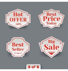 Set of Sale Paper Retro Labels vector image