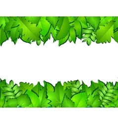 Horizontal seamless background with green leaves vector