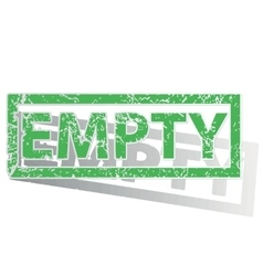 Green outlined empty stamp vector