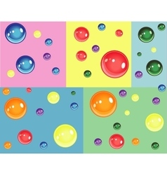 Colorful bubbles for birthday and fun vector