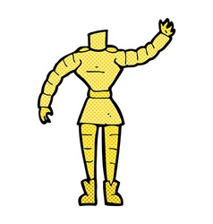 Comic cartoon female robot body mix and match vector