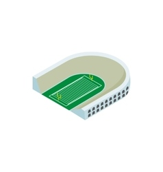 Rugby stadium isometric 3d icon vector image