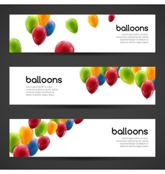 Holiday birthday horizontal banners set with vector