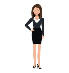 Business woman with elegant suit cartoon vector image