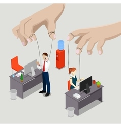 Isometric people office puppets vector