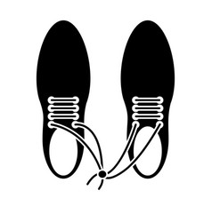 April fool shoelaces tied image pictogram vector