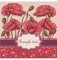 Background with poppies for your text vector image