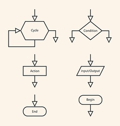 blocks of block diagram vector image
