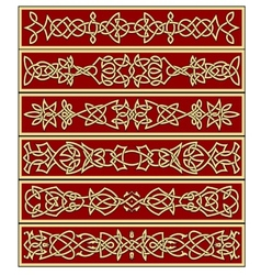Borders and frames in celtic style vector image vector image