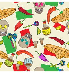 Cinco de mayo pattern vector