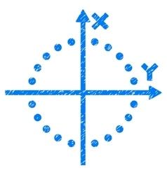 Circle plot grainy texture icon vector