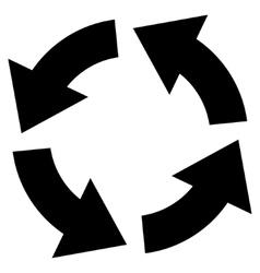 Circulation flat icon vector