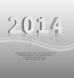 clean 2014 background vector image vector image