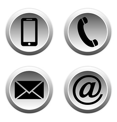 Contact buttons set vector image