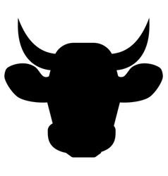 cow head the black color icon vector image vector image