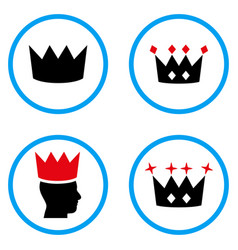 Crown rounded icons vector