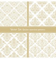 Damask festive seamless goden pattern vector