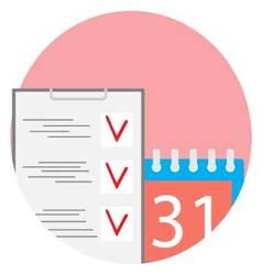 Deadline flat icon vector