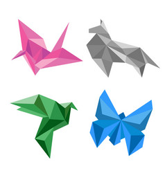 Design of origami paper animal vector