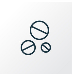 Dope outline symbol premium quality isolated drug vector