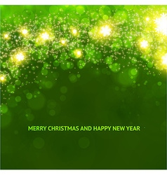 Elegant christmas background in green vector