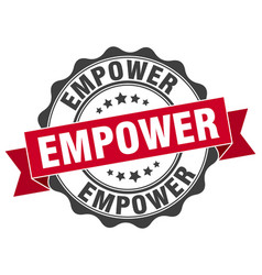 Empower stamp sign seal vector
