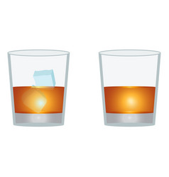 glass of scotch whiskey vector image vector image