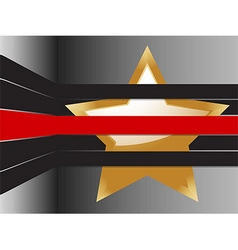 Gold star and stripes background vector