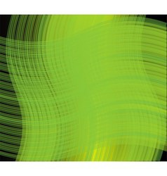 Green line wave background vector