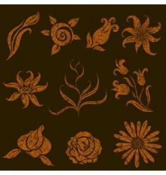grunge leaves vector image