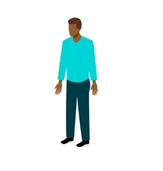 Isometric afro-american man vector image vector image