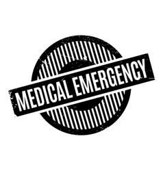 Medical emergency rubber stamp vector