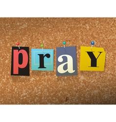 Pray Concept vector image