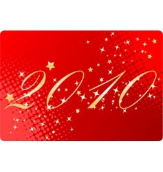 Red halftone new year background vector