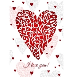 Saint valentines greeting card vector image