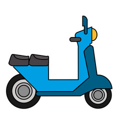 scooter vespa transport vehicle image vector image