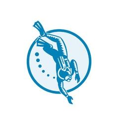 Scuba diver vector