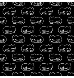seamless pattern with dream cat vector image vector image