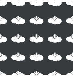 Straight black cloud download pattern vector